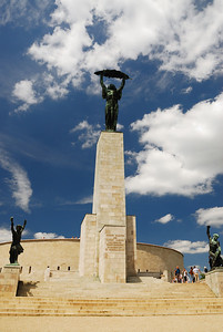 Liberation Monument Surrounded by Progress and Good Over Evil