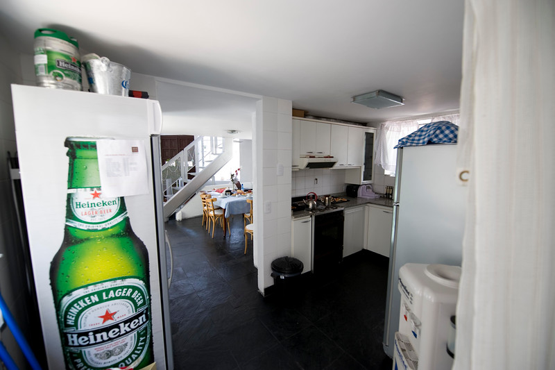 This is the kitchen (below my room) which every little sound from traveled up into my window.  Free beer, water and soda as long as you ask first.  :)
