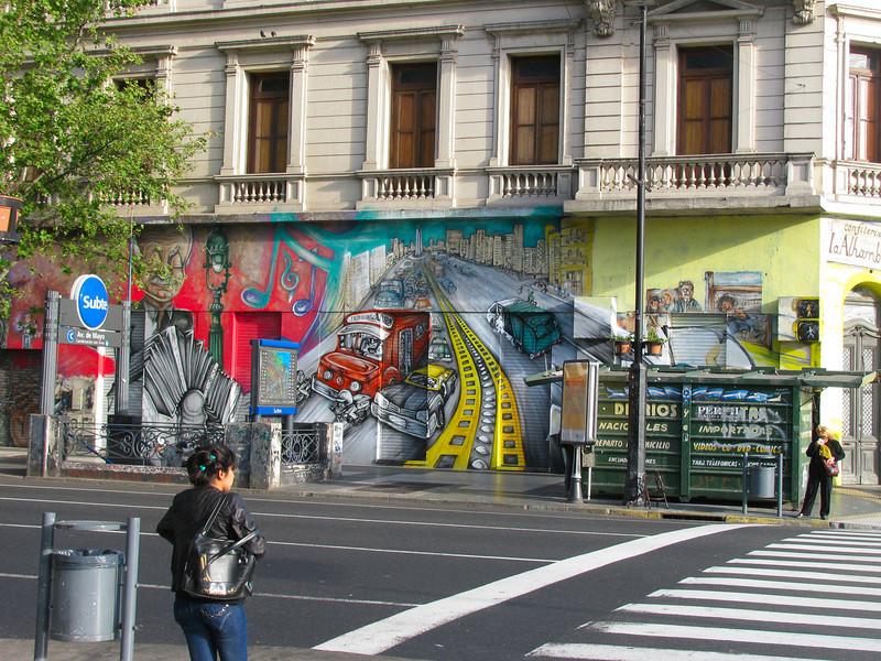 Graffiti en un edificio