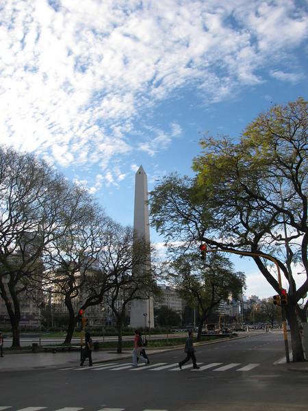 El Obelisco de la Avenida 9 de Julio