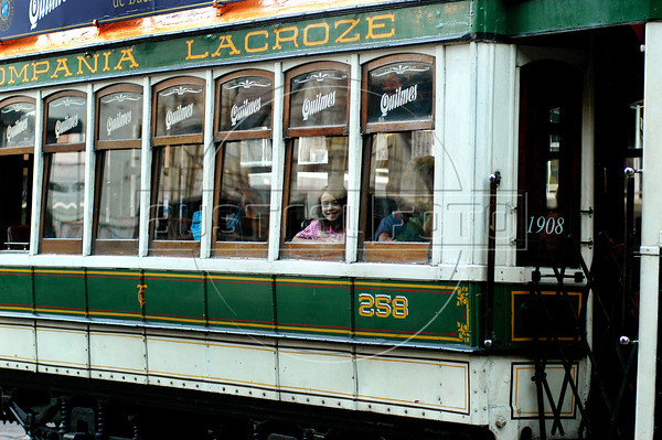 A historic tramway runs alongside a street of Caballito city district, Buenos Aires, Argentina, December 17, 2005. (Austral Foto/Renzo Gostoli)