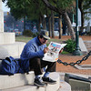 Reader on Plaza Italia