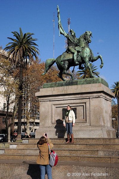 General Belgrano's statue in Plaza de Mayo