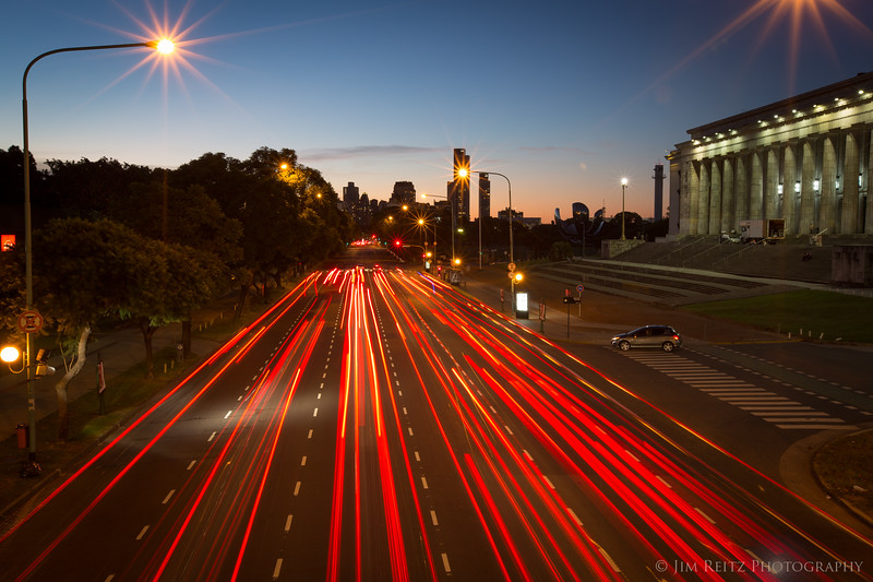 Evening traffic in Buenos Aires, Agentina