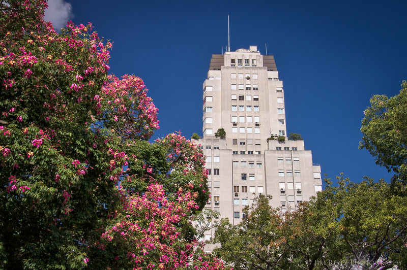 The Kavanagh Building - a 1934 Art Deco skyscraper in Buenos Aires, reminiscent of New York buildings such as Rockefeller Center.