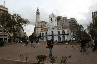 Another view of Plaza de Mayo