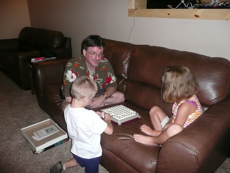Mike, Matt and Lauren playing Word Up.
