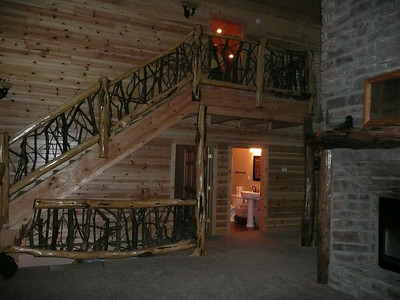 Stairs to upstairs bedroom.