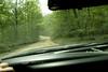 I know its hard to tell, but this is a 14 percent grade, dirt road