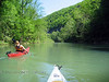 Paddling the turquoise waters of the Buffalo River