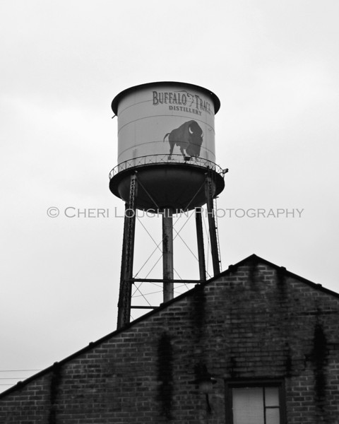 Buffalo Trace Distillery Tower Black White