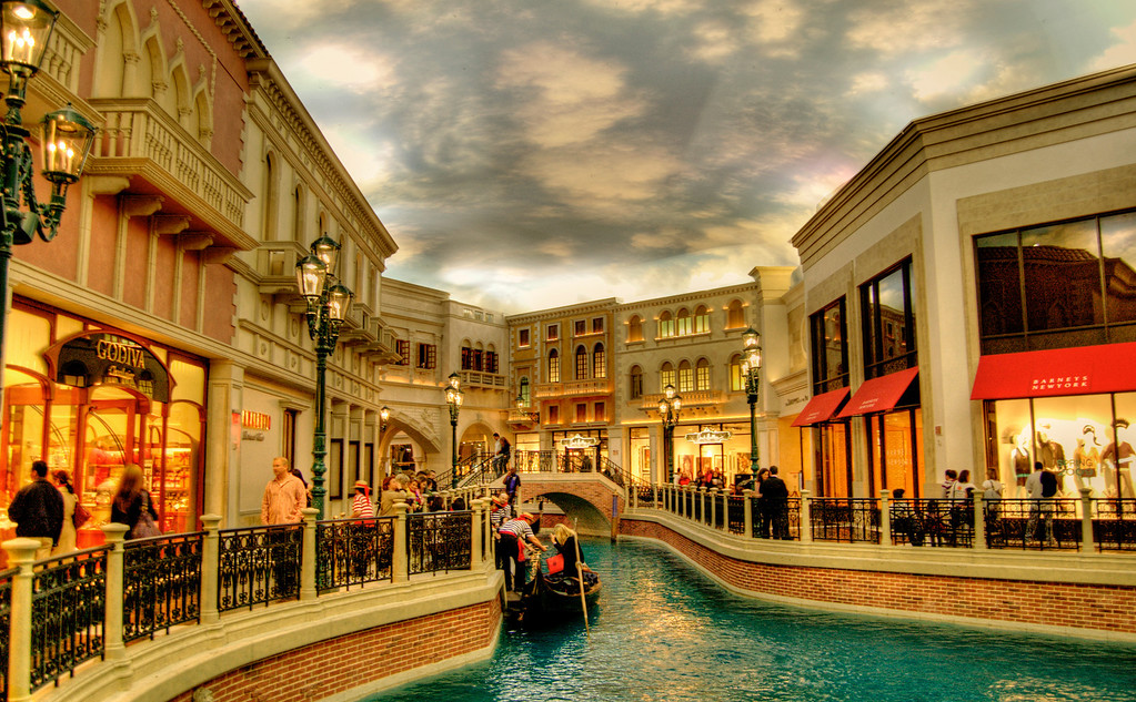 The Grand Canal Shoppes And Gondola Ride At Venetian Resort Hotel Las Vegas