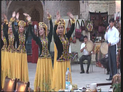 The Bukhorcha Ensemble performing at the Nadir Divanbegi Madrassa.