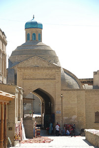 One of the entrances to the bazaar in Bukhara.