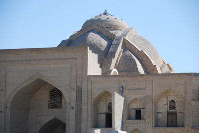 The unusual dome of the Bakhouddin Nakshbandi mosque.