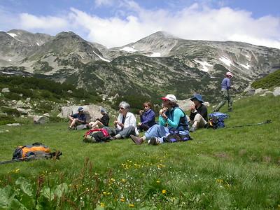 Lunch spot in a beautiful meadow.