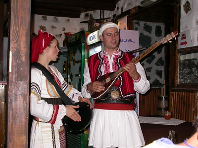 Singing traditional Bulgarian Folk songs.