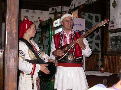 Singing traditional Bulgarian Folk songs.