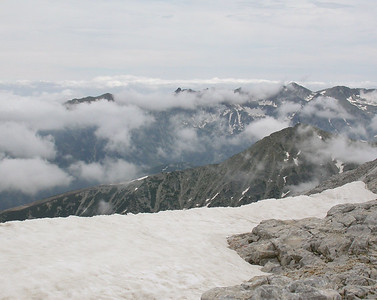 View from the top of Mt. Vihren - 9,620'.