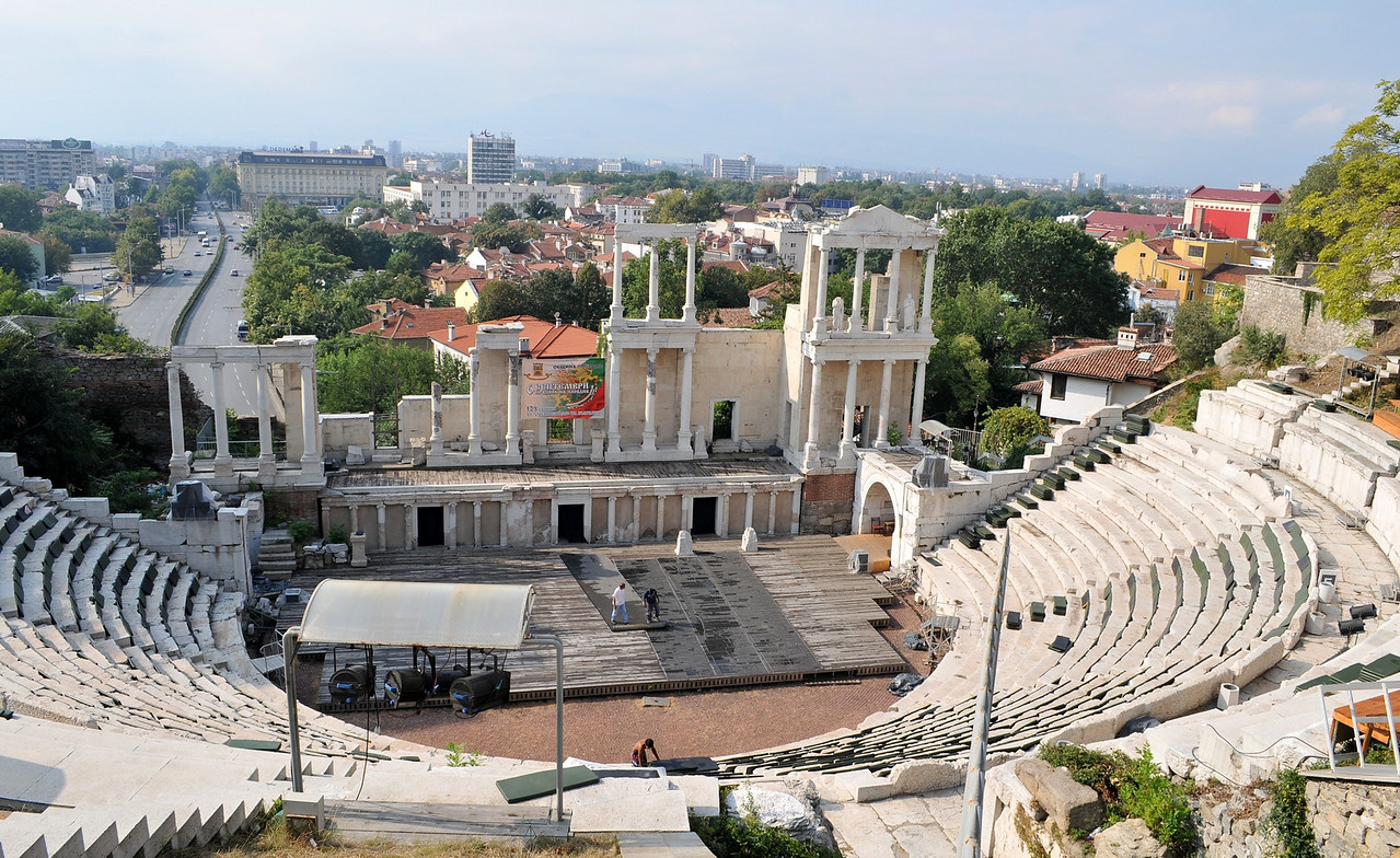 "Roman aphitheater, still in use.<br />  <a href=""http://en.wikipedia.org/wiki/Plovdiv_Roman_amphitheatre"">http://en.wikipedia.org/wiki/Plovdiv_Roman_amphitheatre</a>"