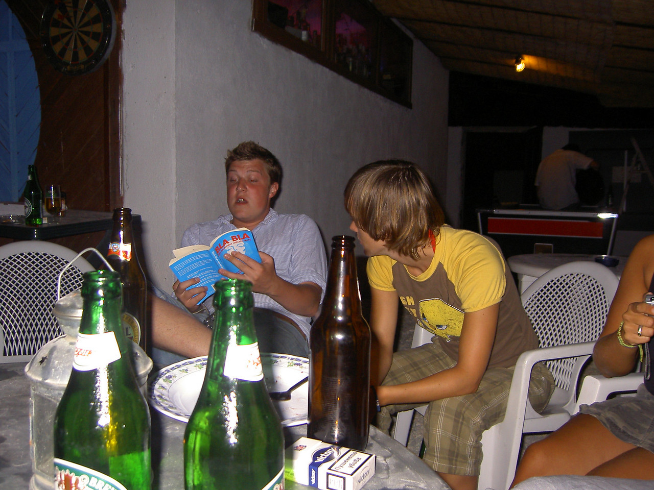 Georgina's birthday at the hostel in Varna