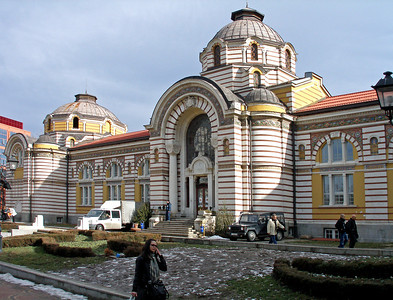 We had a little time in Sofia before returning. This is one of the more striking buildings in the city centre. It had been a grand public thermal bathhouse but was closed 25 years ago, and plans to turn it into a museum seem to have stalled.