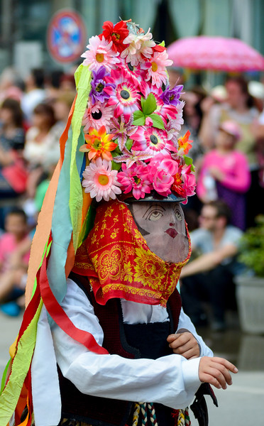 Kazanlak Rose Festival, June 5th 2016. Bulgarians celebrate the traditional Rose festival at Kazanlak, Bulgaria in traditional costumes.