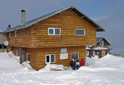 Хижа Мусала, the Musala Hut. It was closed.