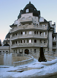 One of the grander hotels in Borovets.