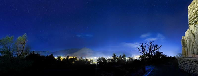 Panoramic Sliven at Night