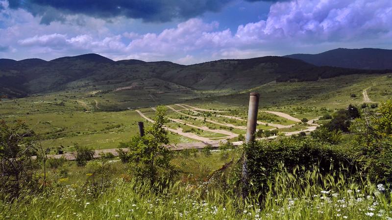 Landscape near Sliven, Bulgaria.