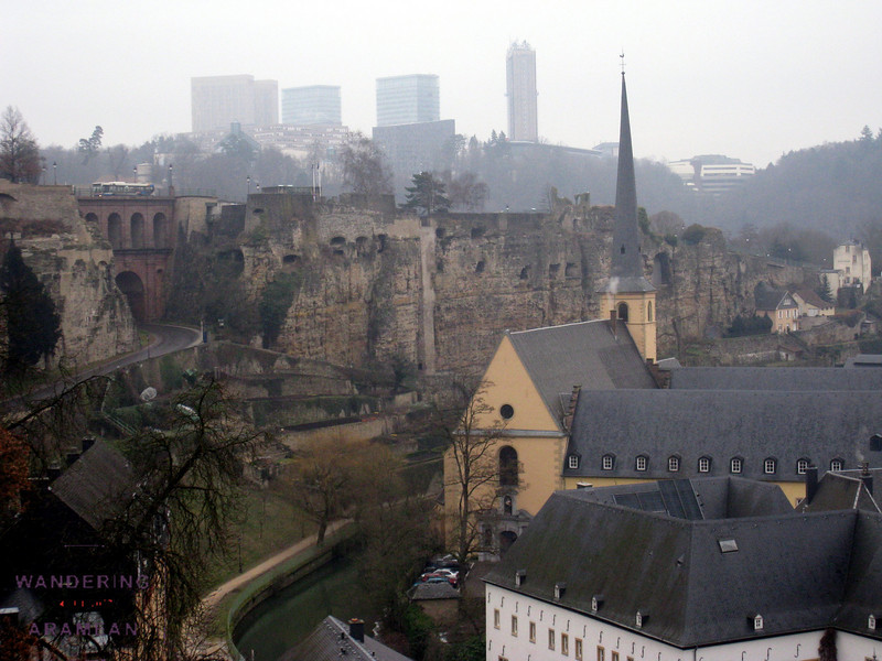 The old and the new of Luxembourg.