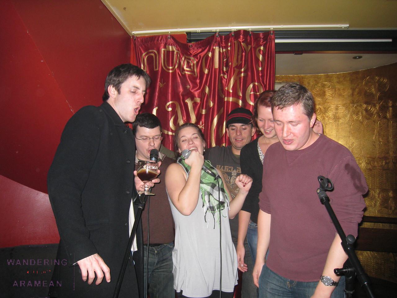 Drunken karaoke - always a good time!