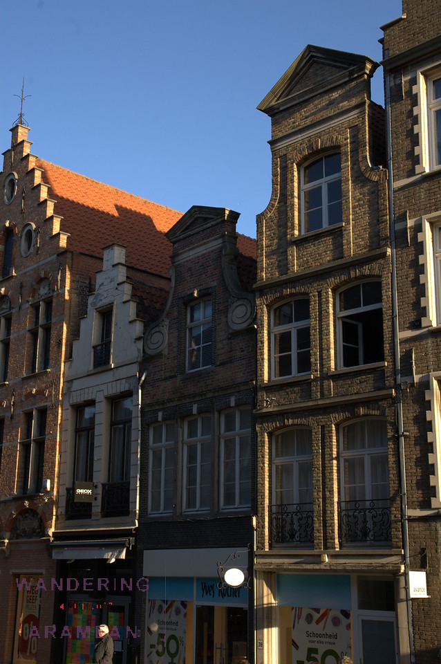 The architecture in Bruges is more or less stuck in the 1700s.