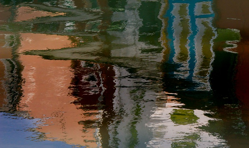 """Because you never knew what was coming, I just set the camera on """"continuous"""" and took a bunch of images quickly, then chose the best reflection shapes later."""