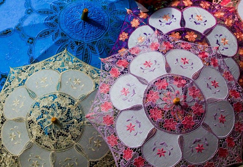 Burano is world renown for lace making.