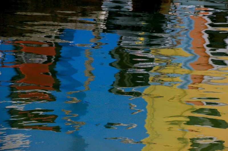 colorful reflections change constantly
