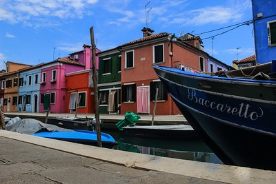 Burano painted its houses bright colors to distinguish them quickly and in low light.