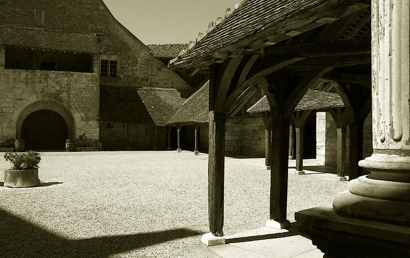 Courtyard at the famous Clos de Vougeot