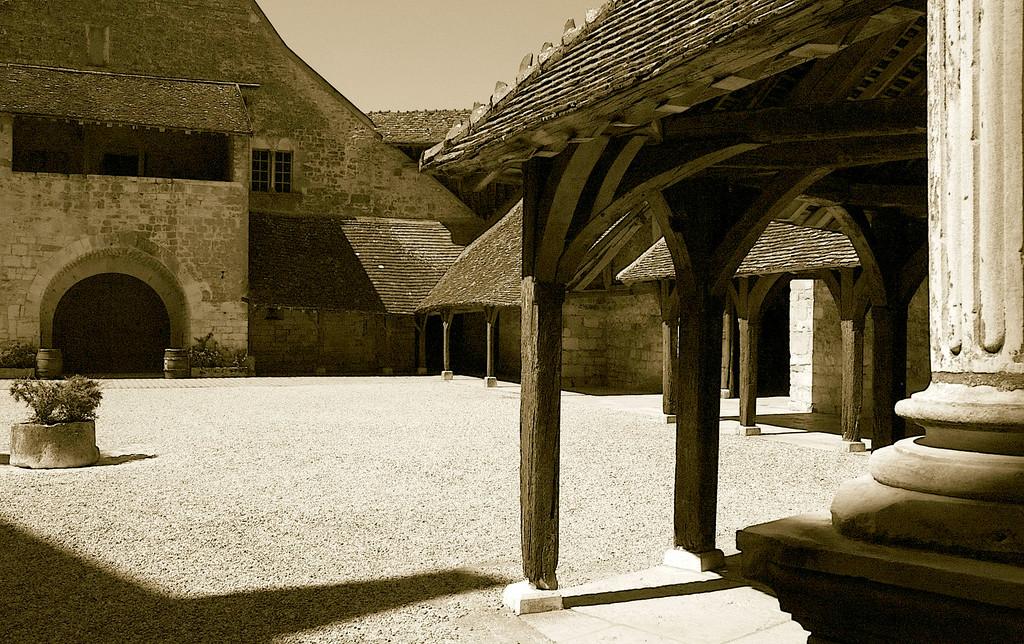 Courtyard at the famous Clos de Vougeot