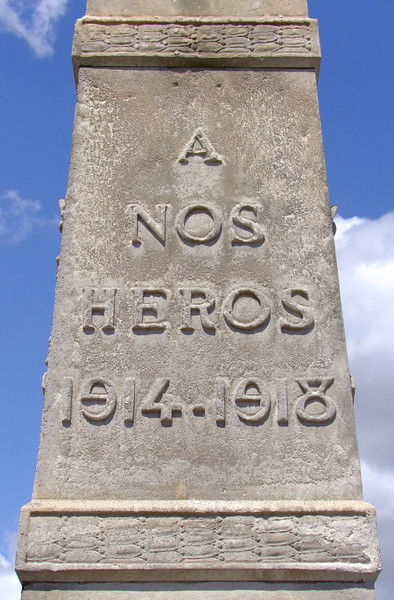 All the French towns and cities contained memorials to the men who died in WWI and WWII.