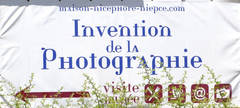 Site of the invention of photography in 1823.  It was an 8 hour exposure and came after years of experiements and trials.
