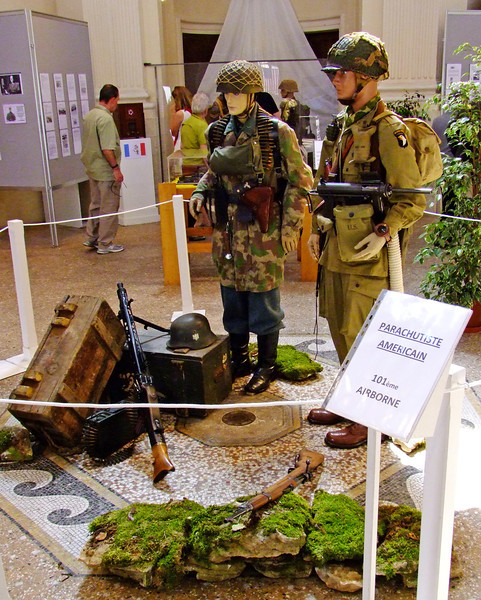 The traveling exhibit with a tribute to the American 101st Airborne which helped liberate France during WWII.