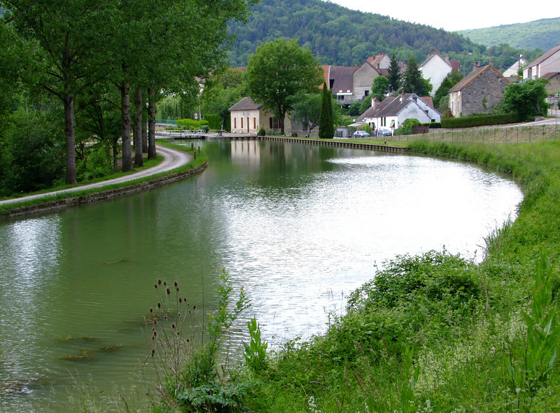 A canal in the Burgundy Region.  The Burgundy Region is very beautiful.
