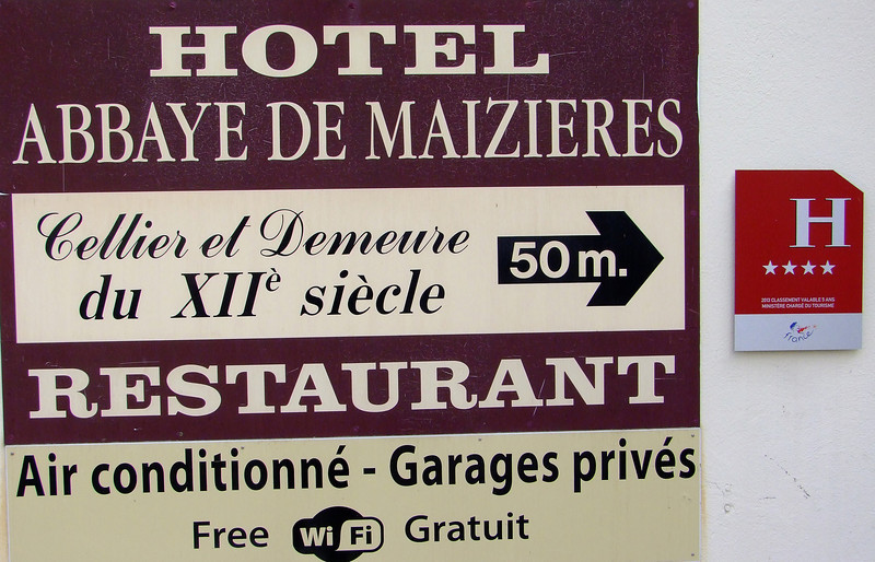 Our hotel was the Abbey De Maizieres.