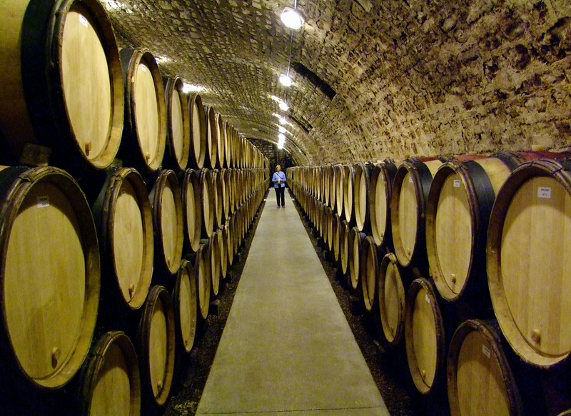 No - we couldn't drink them all or even bring them all home so they remain aging in French oak barrels.