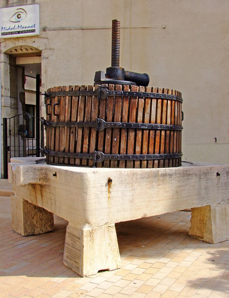 A very old wine press.