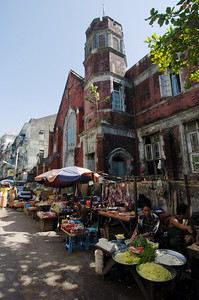 Downtown Rangoon Street market.