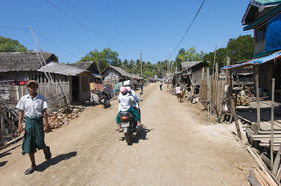 This village could be anywhere, but it's actually in a place called Chaung Tha beach. Totally typical sight.