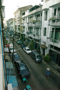 Downtown Rangoon.